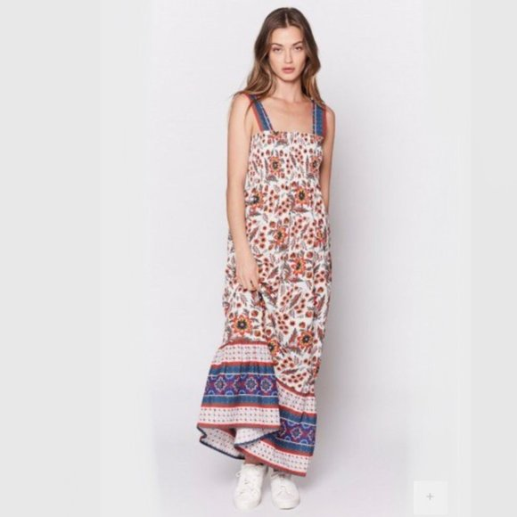 Joie Dresses & Skirts - Joie Chisuzu Printed Floral Maxi Dress S Smocked